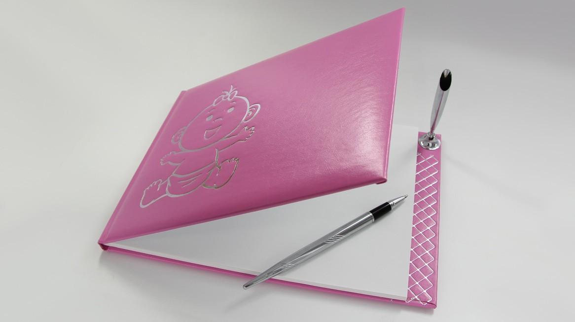 4526 - Gästebuch Pink